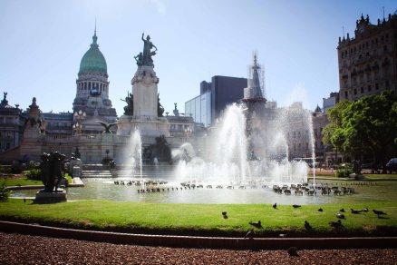 Plaza des los Dos Congresos in Buenos Aires, Argentina