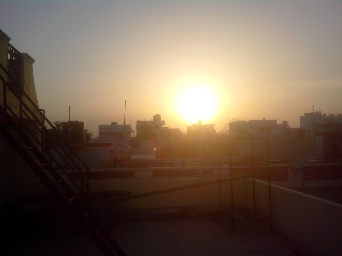 The real pic. Sunset at 18:17pm IST
