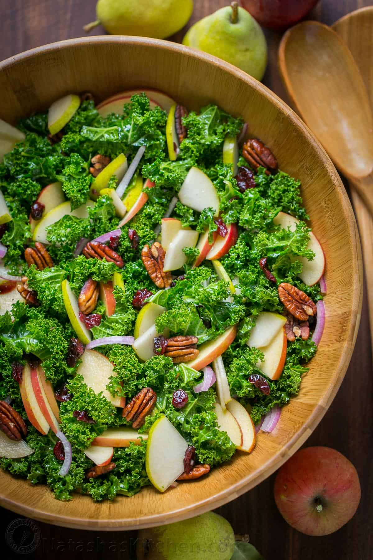 Kale, Apple, and Pecan Salad