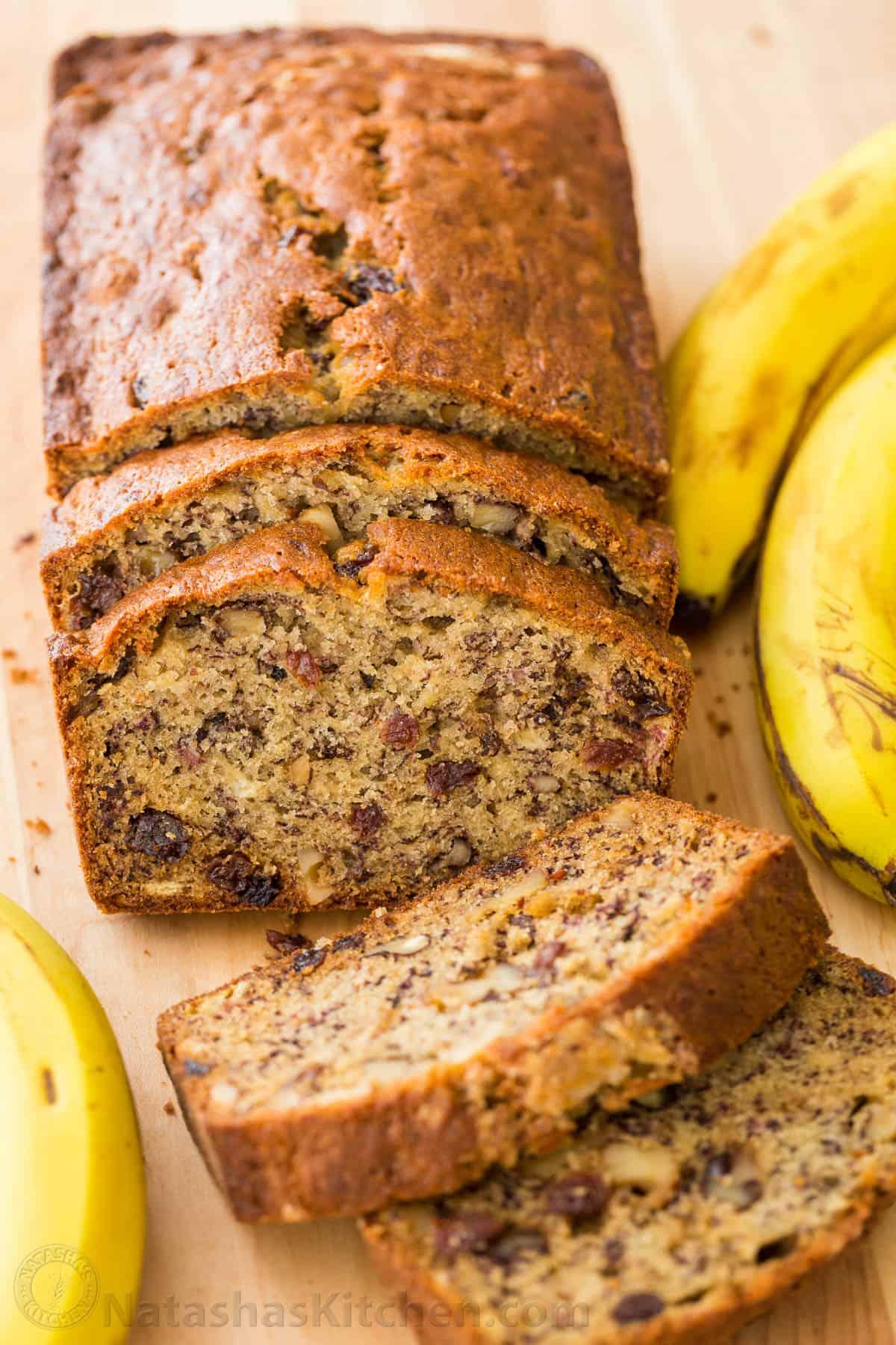 Banana Nut Bread Recipe Video Natashaskitchen Com