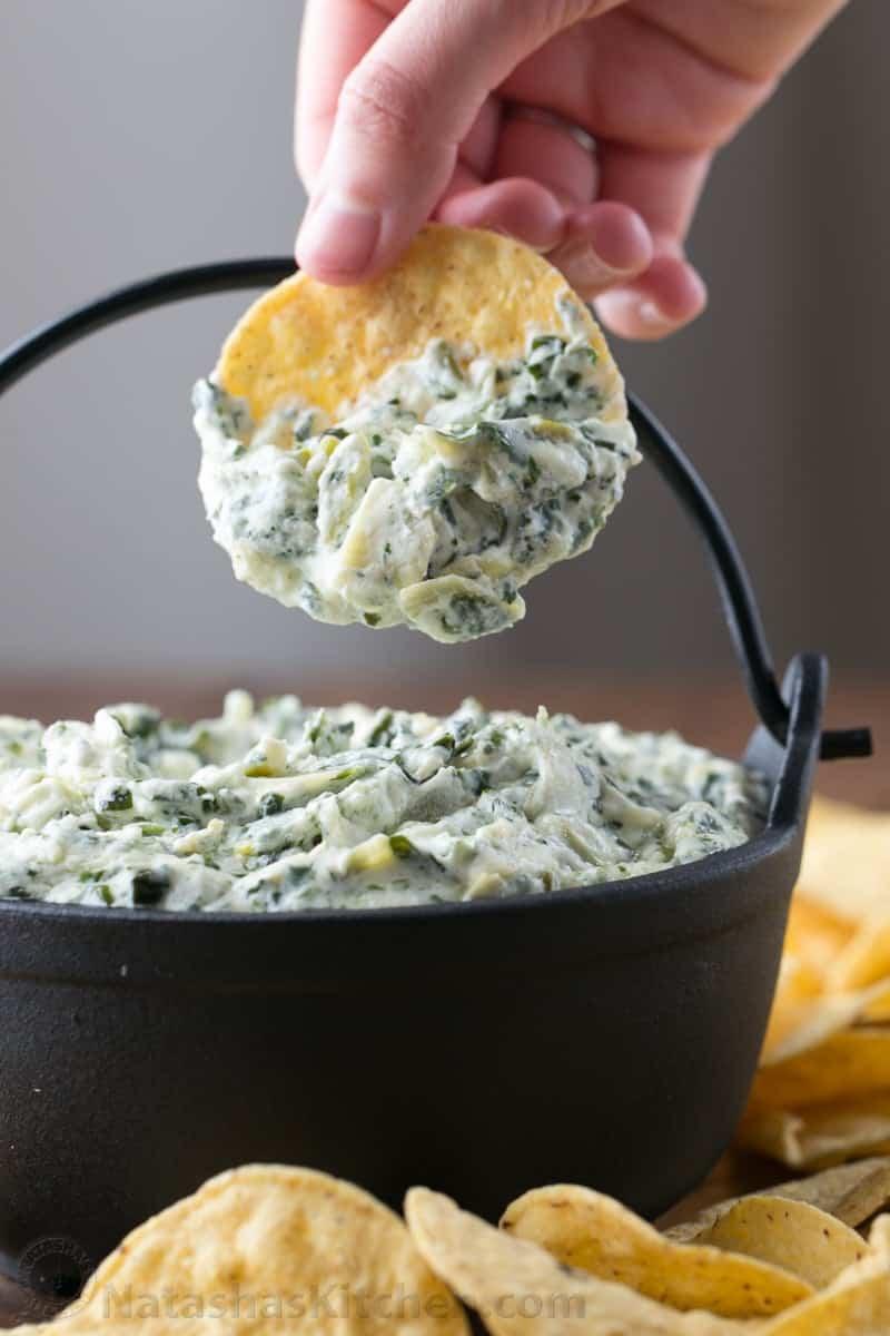 Spinach Artichoke Dip Recipe Natashaskitchen Com