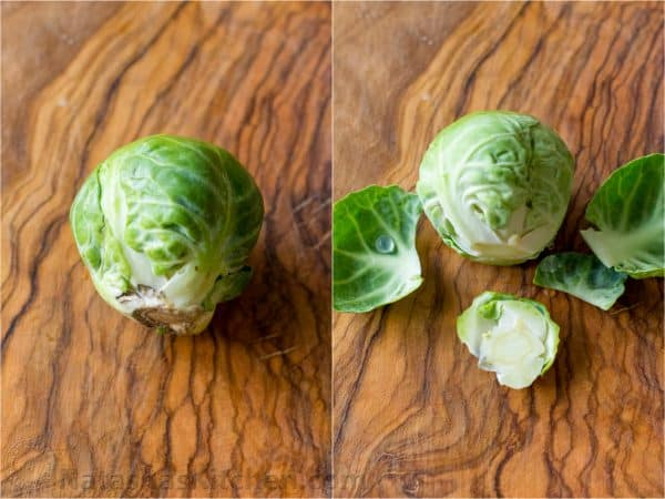 How to trim and cut brussel sprouts