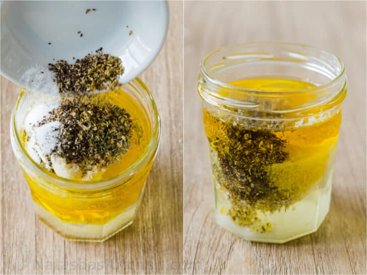 How to make homemade salad dressing in a mason jar