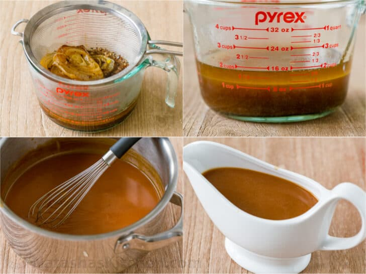 Step by step how to make chicken gravy from pan drippings