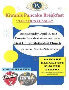 2015 Kiwanis Pancake Flyer