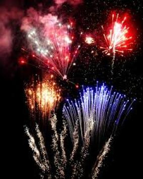 Fireworks over caneriver