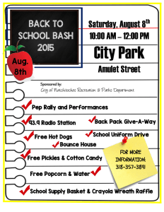 Back to School Bash 2015