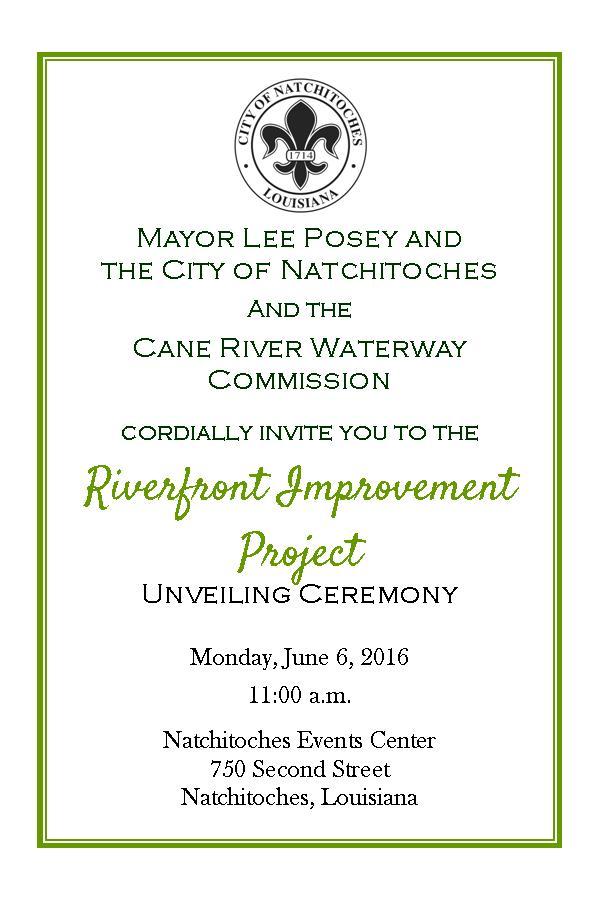Riverfront Improvement Project Unveiling