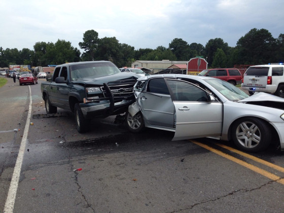 NPSO, LSP and EMS respond to 3 vehicle crash near Payne Subdivision