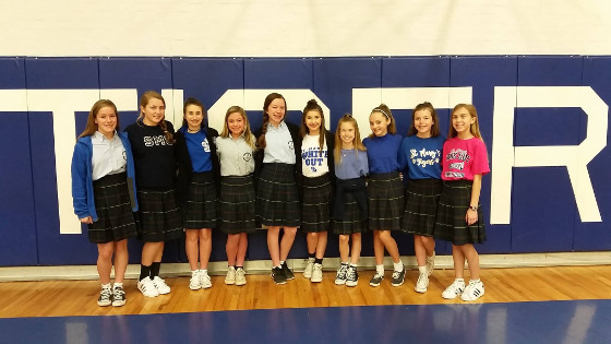 ST Marys JH Cheerleaders 2017