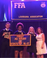 State Champion_Ag Issues Forum_Roper Hays, Jayden Durr and Carly Adams. Not Pictured are Andrew Broadway, Tucker Henderson, and Scott Fow
