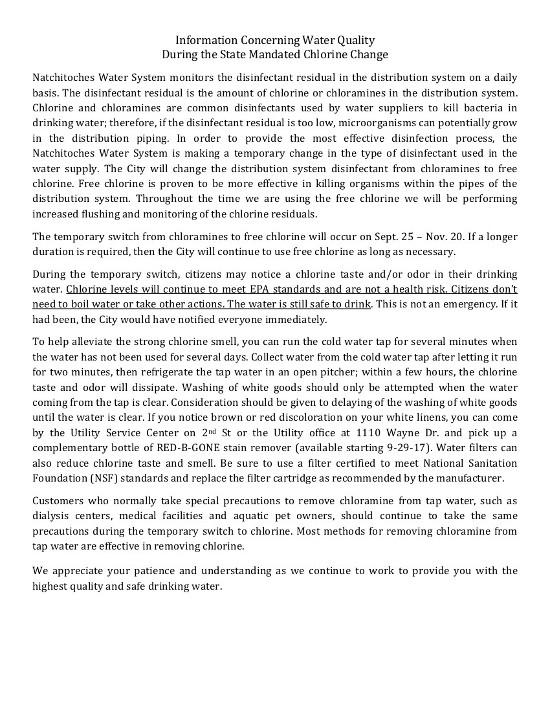 CON-Water Statement 09-27-17