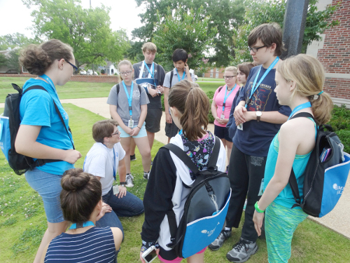 summer at lsmsa - allison with students.jpg