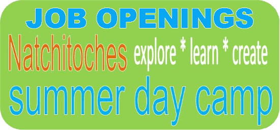 JOB OPENINGS_Natchitoches Summer Camp