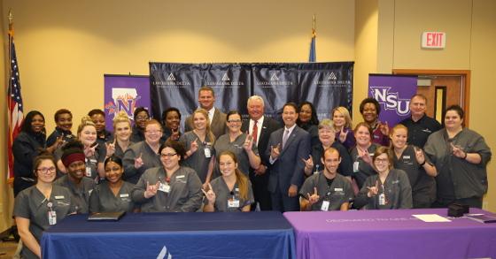 Nsu Ldcc Sign 2 2 Nursing Agreement Natchitoches Parish Journal