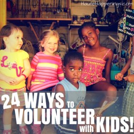Ideas for Volunteering with Kids