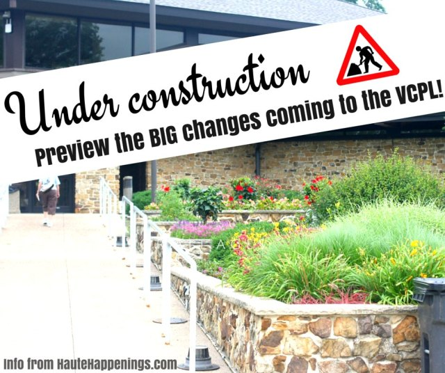 Construction at the Vigo County Public Library