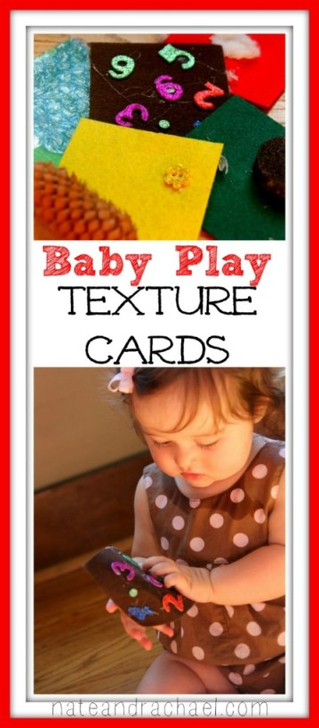 Baby play! Make your own texture cards.