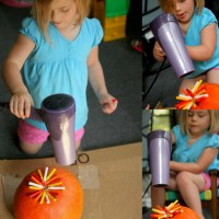 Melted Crayon Pumpkins: No-Carve Pumpkin Decorating with Kids!