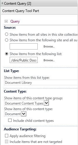 content query settings1
