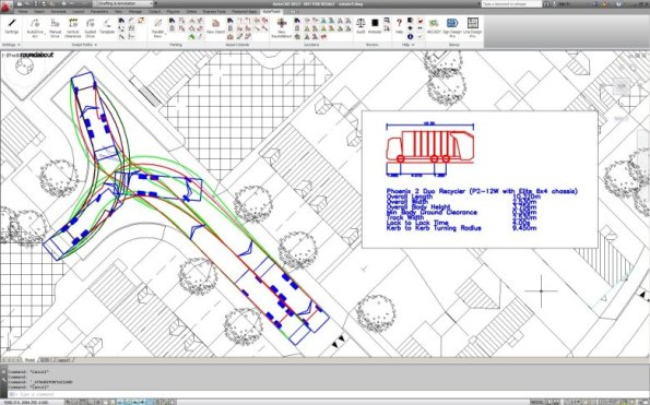 RefuseTruckInResidentialZone_AutoCAD