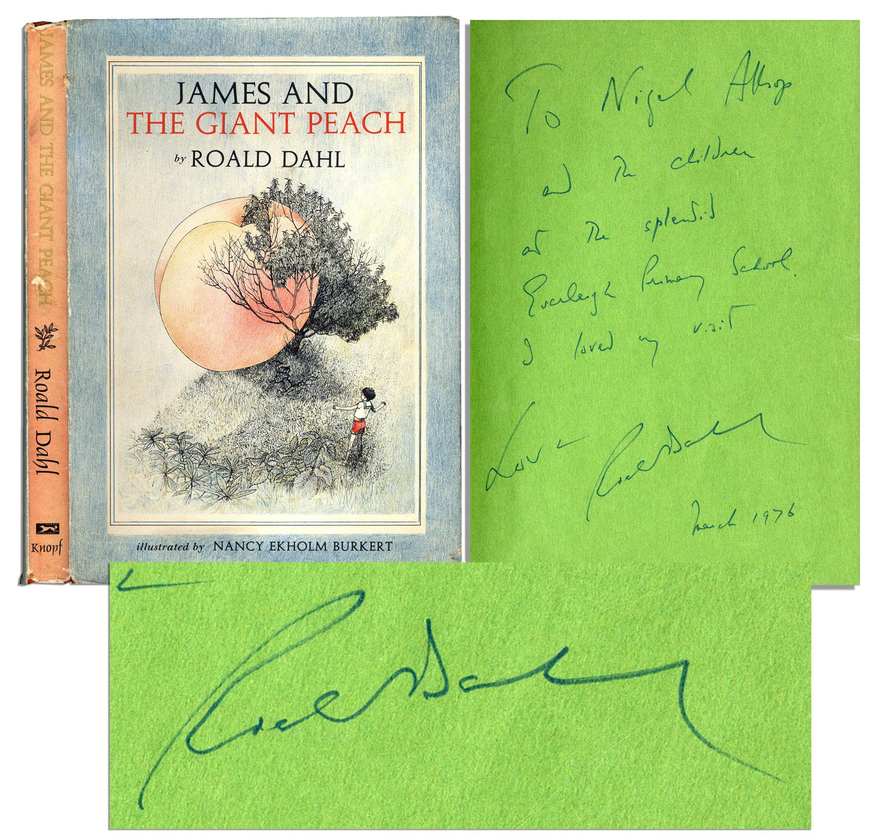 Auciton Sell A Roald Dahl James And The Giant Peach