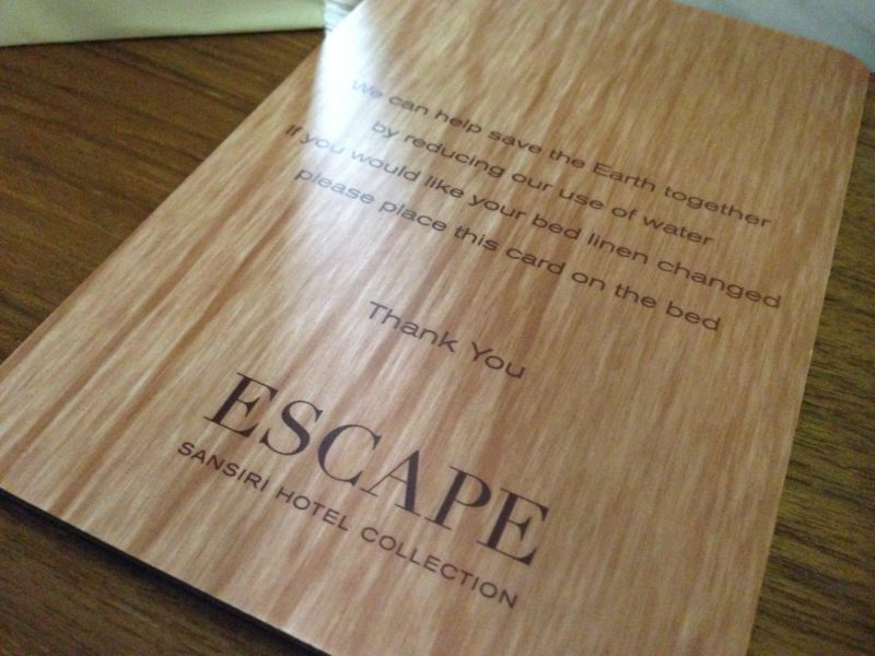 Bed Linen Change Card | Escape Hua Hin