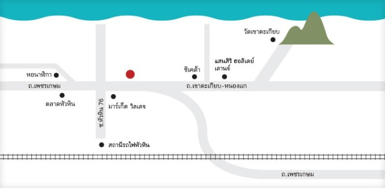 Escape Hotel HuaHin Map