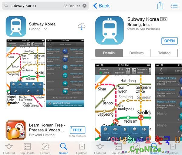 Subway Korea Application How to 1