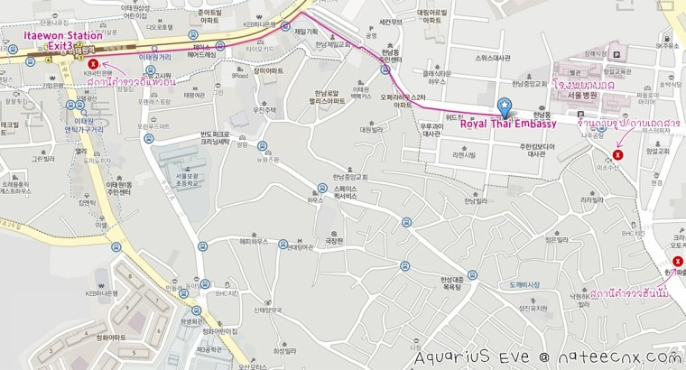 How to go to Royal Thai Embassy from Itaewon Station