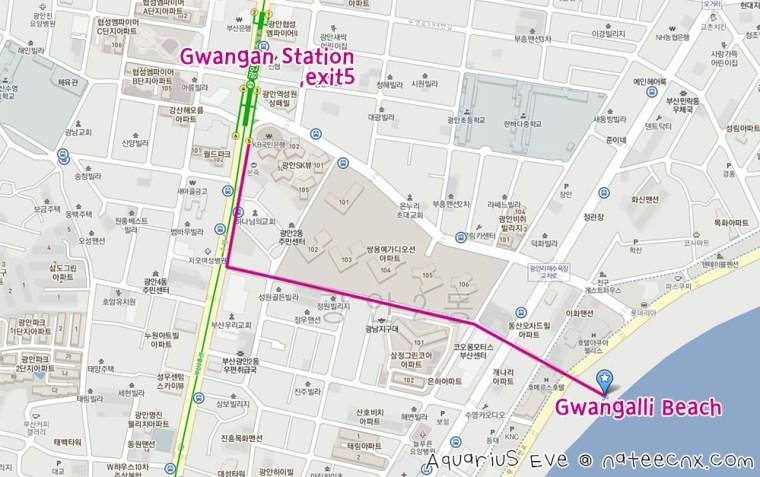 Gwangalli Beach Map