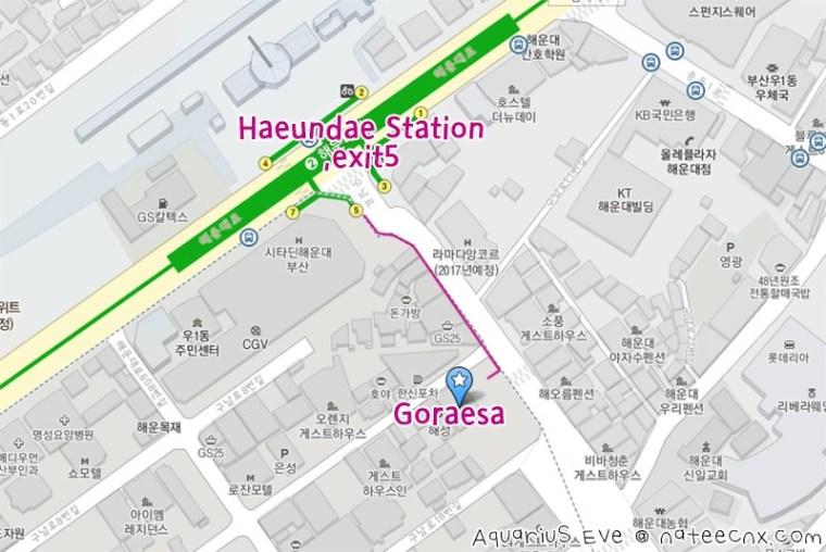 고래사 해운대점 | Goraesa Haeundae Map
