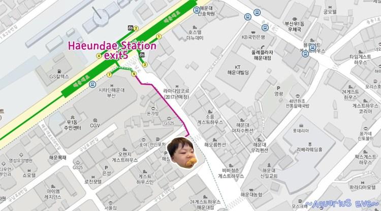 Goraesa, Haeundae Busan Map