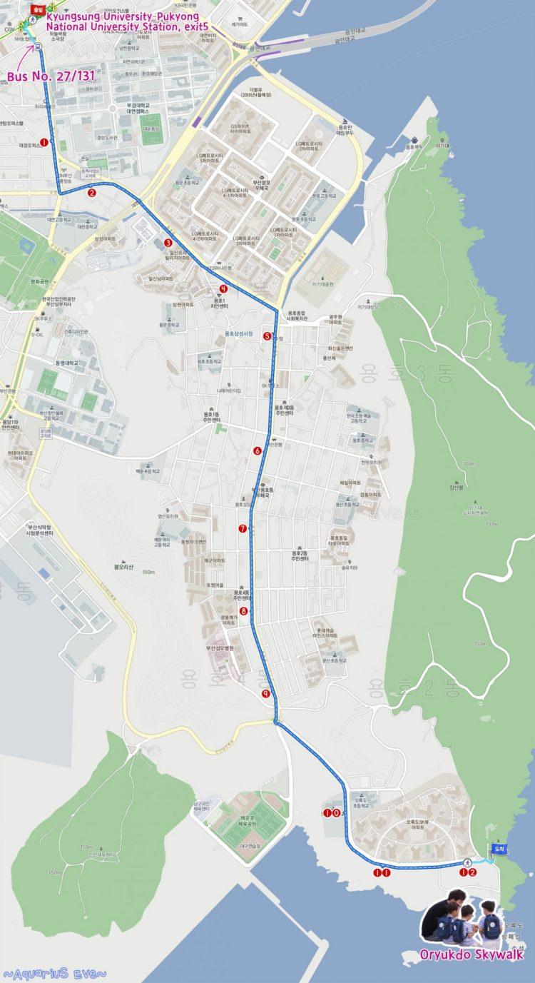 Oryukdo Skywalk Busan Map