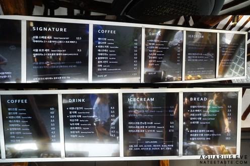 Seoul Coffee Ikseondong Menu