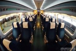 บรรยากาศในรถไฟ KTX สะอาด สวยงาม