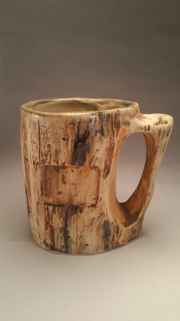 Petrified wood-look mug