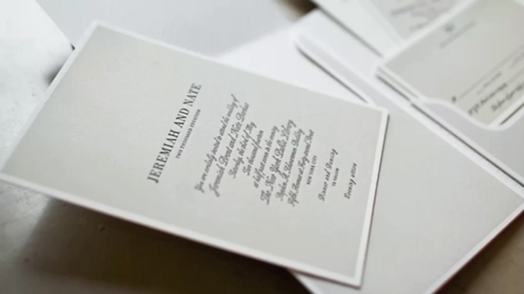 Nate and Jeremiah Wedding Card