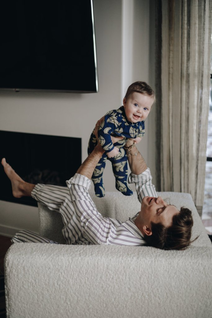 Oskar Brent Berkus with Jeremiah Daddy