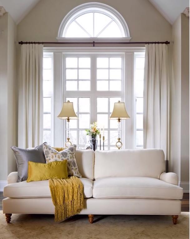 arched window treatments diy