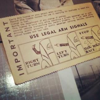 Grandpa's Old Driver's License