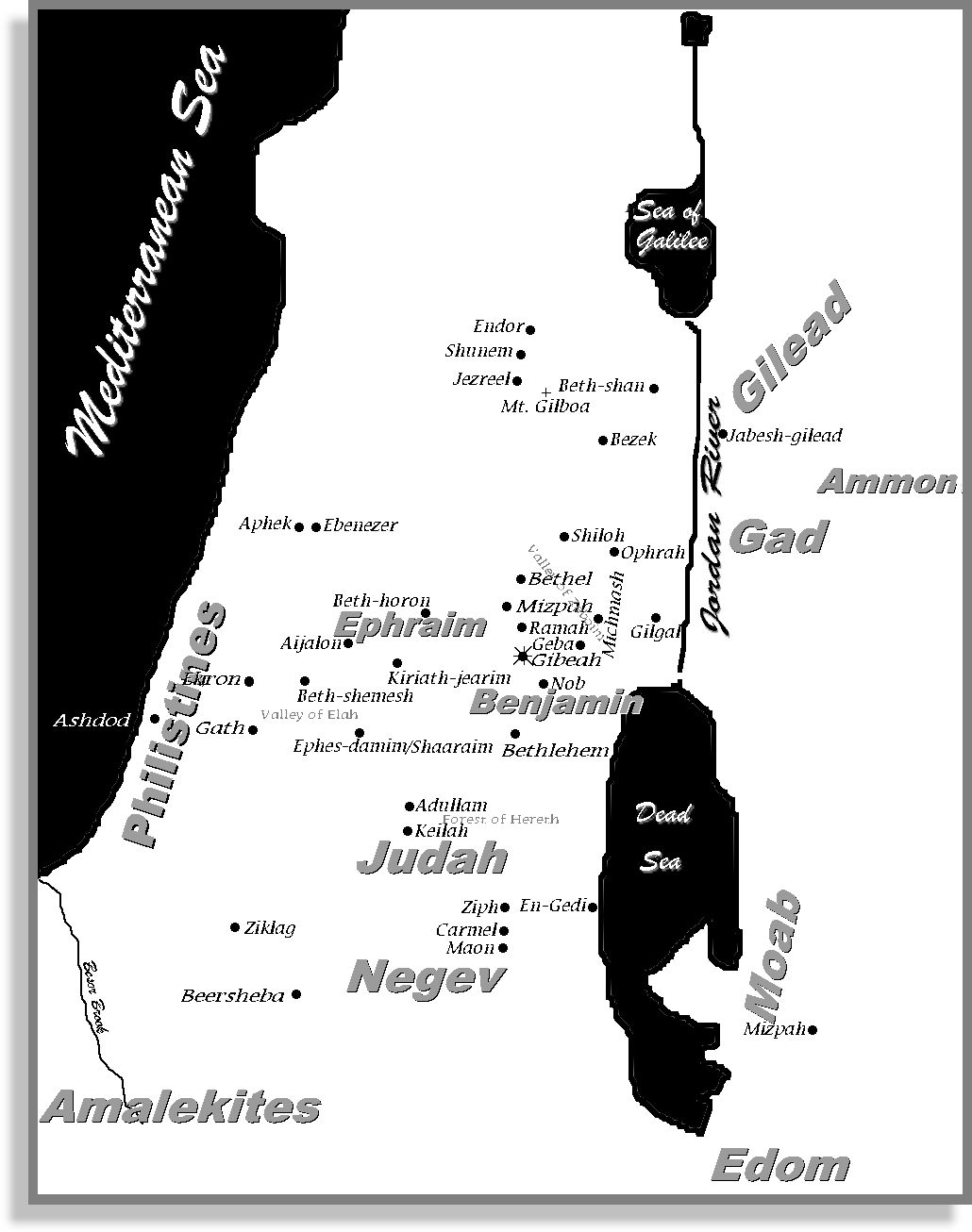 Map Ramah And Gilgal