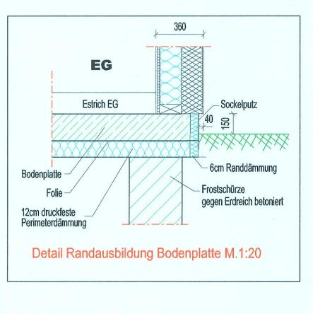 Detail Randausbildung Bodenplatte