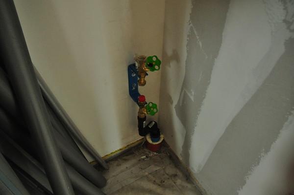 Wasseranschluss, noch ohne Wasseruhr.