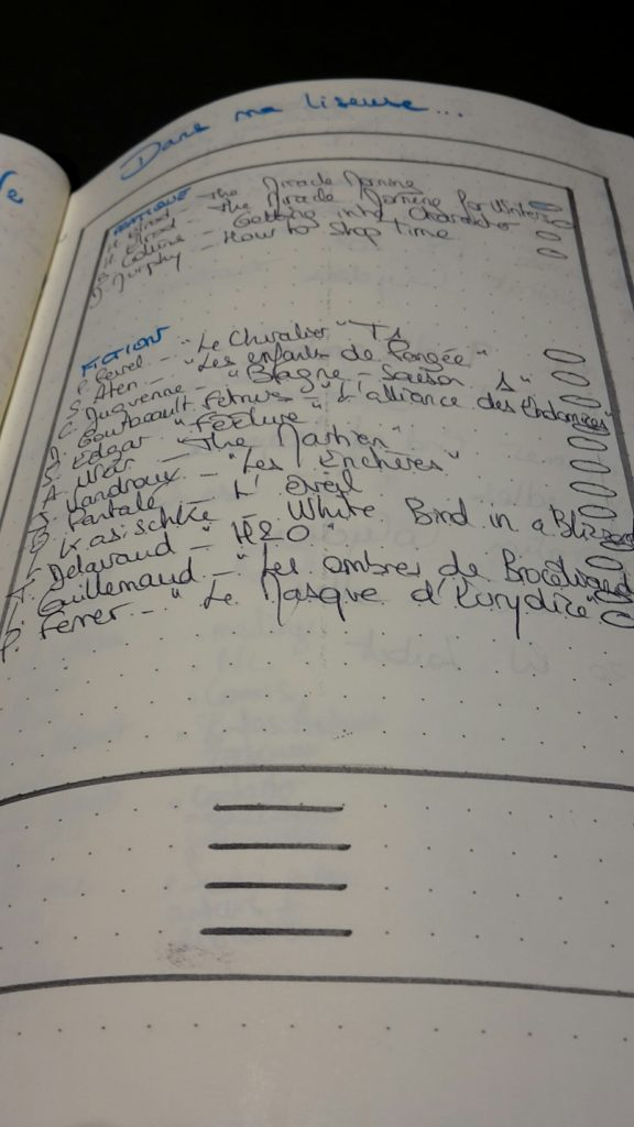 Collections Bujo - Liseuse