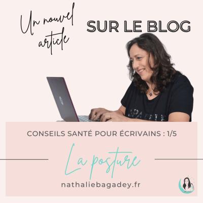 Nathalie Bagadey à l'ordinateur, article santé - Posture