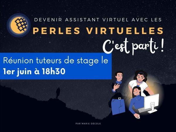 Visuel Perles virtuelles annonçant le début du tutorat au 1er juin 2021