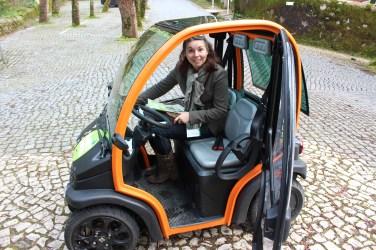 Notre voiturette électrique à Sintra