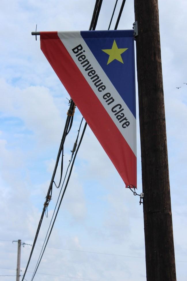 drapeau français et l'étoile jaune= drapeau acadien