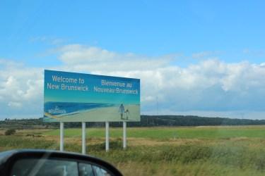 petit passage dans le Nouveau Brunswick